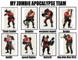 Zombie Apocalypse Meme - image 632745 my zombie apocalypse team know your meme
