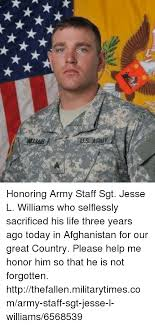 Jesse Williams Memes - us army honoring army staff sgt jesse l williams who selflessly