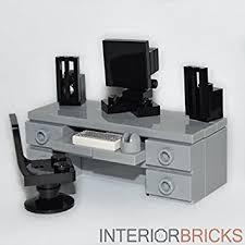 Computer Desk Amazon by Amazon Com Lego Furniture Computer Desk Gray Custom Set With