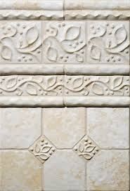 white ceramic tile field border molding bathroom design ideas