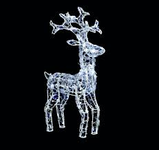 Exterior Christmas Decorations Uk by Charming Light Up Reindeer Outdoor Decoration 83 Grazing White