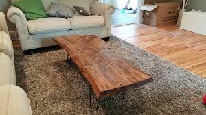 wood slab coffee table diy coffee table diy live edge wood coffee table album on imgur