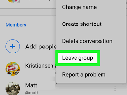 chat android how to leave a chat on messenger on android