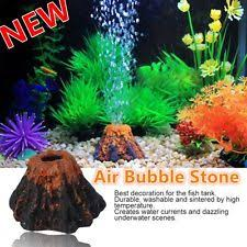 fish tank aquarium rockery volcano shape air ornament