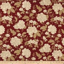 home decor flower ansley home decor cotton duck floral burgundy cream discount