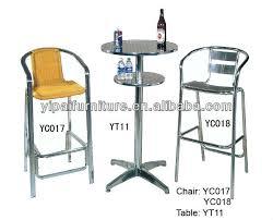 bon marché en aluminium de rotin chaise de bar haute tabouret de bar