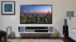 Modern Wall Mounted Entertainment Center Wall Shelves Design Floating Shelves Under Wall Mounted Tv Flat
