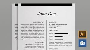 resume template word free cover letter cv template youtube
