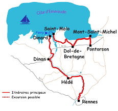 Saint Malo France Map by Cycling Accommodation And Cycling Holidays In France