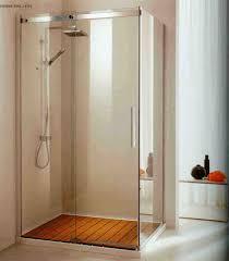 Standing Shower Bathroom Design Minimalist Bathroom With Transparent Frameless Glass Shower Door