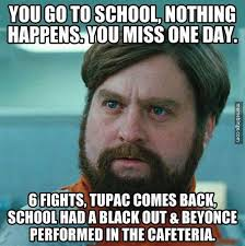 Fast 6 Meme - what happens when you miss a day of school teacher funnies in the
