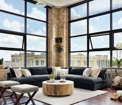 grant modern charcoal grey armless corner sectional modern loft