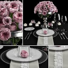 table setting with roses 3d cgtrader