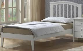 joseph lana bed frame 3ft single white wooden bed