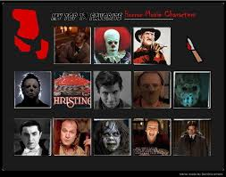 Horror Movie Memes - top 13 favorite horror movie characters meme by ghostlymarionette on