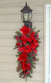 christmas swags for outdoor lights pin by lynda poole on christmas pinterest door swag swag and