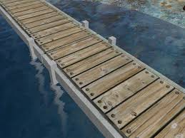 second life marketplace concrete boat dock pier or wharf with