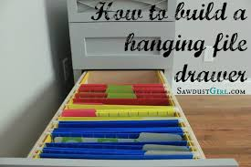 how to build a file cabinet drawer how to build a hanging file folder drawer hanging files drawers