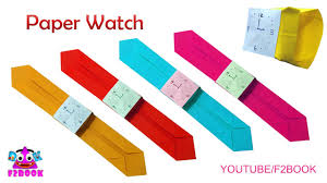 childrens craft paper watch easy make watch origami for kids