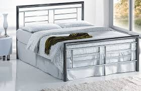 montana black chrome and nickel metal bed frame 4ft 6