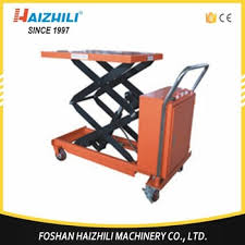 china scissor lift table truck 500kg full electric lifting table