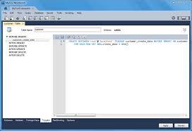 cara membuat database dengan mysql front mysql mysql workbench manual 8 1 10 5 triggers tab