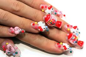 13 adorable hello kitty nail designs