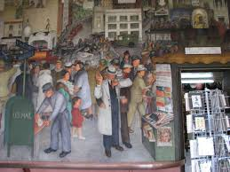 Coit Tower Murals Diego Rivera by San Francisco U0027s Art From The New Deal Era Sharp