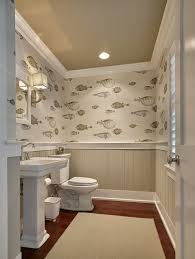 Wallpapered Bathrooms Ideas Bathroom At The Beach House Wallpaper Is Cole And Son10031