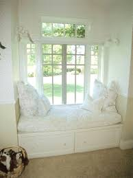 interior spectacular window seat design with white base combine