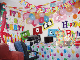 Kids Birthday Party Decoration Ideas At Home Marvellous Decoration Of Birthday Pary With Cars Following Amazing