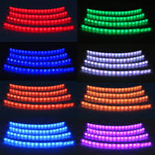 12v car interior rgb led strip lights wireless music voice control