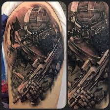 another badass halo by sterry tattoos