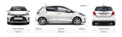 width of toyota yaris dimension toyota yaris hybride auto galerij