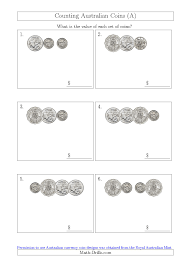 counting small collections of australian coins without dollar