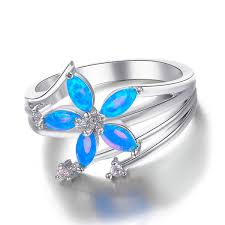 Blue Wedding Rings by Opal Wedding Rings 5 Unique Blue Opal Engagement Rings 2417