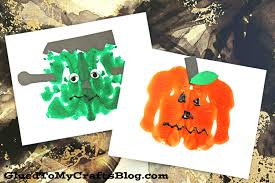 paint splat halloween friends kid craft glued to my crafts