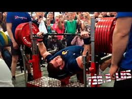 World Bench Press Champion Kirill Sarychev 335 Kg 738 5lbs Raw Bench Press World Record 2015