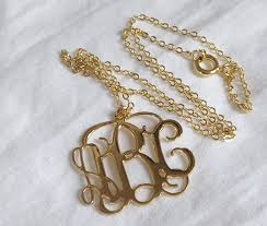 Monogramed Jewelry 1 Inch Silver Monogram Necklace 1 Loop U2013 Katy Styles Name Necklace