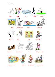 action verb cartoon