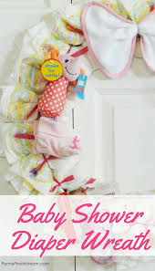 baby shower gift idea easy diaper wreath for baby