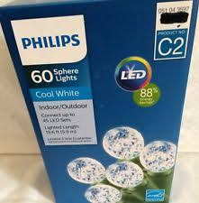 philips 60 sphere lights 4 boxes philips cool white led 60 ct sphere lights bulbs c2 indoor