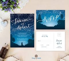 sle rsvp cards starry wedding invitations and rsvp cards mountain