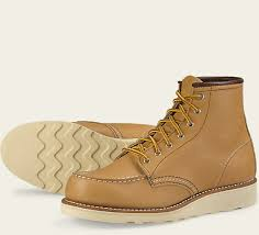 womens boots wing s 3374 6 moc beige leather boot wing heritage