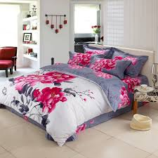 Asian Bedding Set Unique Style Calligraphy And Floral Painting