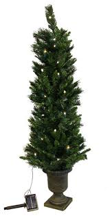 pre lit potted solar powered artificial tree clear led