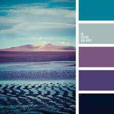 palette of cold floral shades of blue and purple translucent and