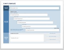 Free Lean Six Sigma Templates Smartsheet 5 Whys Form