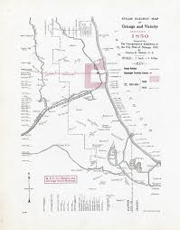 Chicago Trains Map by Rail Maps Donnelley And Lee Library Archives And Special
