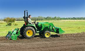 how to use a tractor mount rotary tiller in your large vegetable